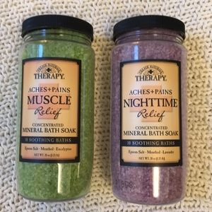 2 bath salts from Village Naturals therapy